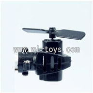 LS-209-parts-25 Tail cover & Tail motor & Tail blade,LianSheng toys model LS209 RC Helicopter parts