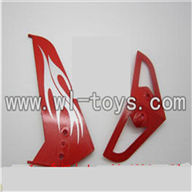 LS-209-parts-33 Horizontal and verticall wing-Orange,LianSheng toys model LS209 RC Helicopter parts
