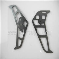 LS-209-parts-34 Horizontal and verticall wing-Gray,LianSheng toys model LS209 RC Helicopter parts