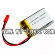 Double horse 9051 rc helicopter parts DH9051 1000mAh 3.7V Li-ion Polymer Battery