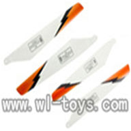 Double horse 9051 rc helicopter parts-25 Main Rotor Blade B (White),shuangma DH-9051 toys model