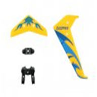 DFD F106 -08 Tail Decoration Set (Yellow) DFD model toys F106 RC Helicopter Spare Parts