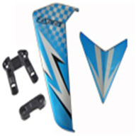 DFD avatar F163 -07 avatar Tail Decoration Set (blue),DFD toys model F163 rc helicopter Spare Parts