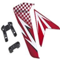 DFD avatar F163 -08 Tail Decoration Set (red),DFD toys model F163 rc helicopter Spare Parts