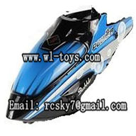WLtoys V757 RC Helicopter Parts,WL-toys V757 model,WL-V757-01 Head cover(Blue)