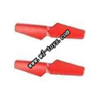 WL V949 rc helicopter parts-05-main blade(2x)-Red WLtoys V949 Quadcopter WL-toys model