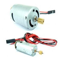 GT-Model-9012-parts-16 Main motor with shaft and gear  Tail motor with shaft and gear