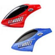 GT Model 9011-001 Head cover(Color:Blue/Red),G.T. model QS9011 rc helicoptero parts