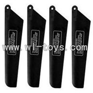 GT-9016-parts-06 Main rotor blades(4pcs-2A+2B),QS9016 toys G.T. model 9016 rc helicoptero parts