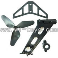 GT-9016-parts-14 Tail Blade & Horizontal and verticall wing,QS9016 toys G.T. model 9016 rc helicoptero parts