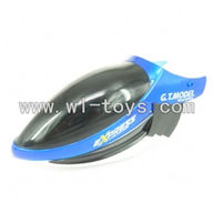 GT-9018-parts-01 Head cover(Blue),G.T. model 9018 rc helicoptero parts QS9018 toys