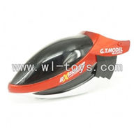 GT-9018-parts-02 Head cover(Orange),G.T. model 9018 rc helicoptero parts QS9018 toys