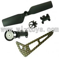 GT-9018-parts-21 Vertical wing & Tail blade & Tail cover with tail gear,G.T. model 9018 rc helicoptero parts QS9018 toys