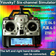 Six-Channel Simulator-Include 2.4G transmitter function(Include Remote control x 1,Manual x 1,PC data cable x 1,Soft ware cd x2)
