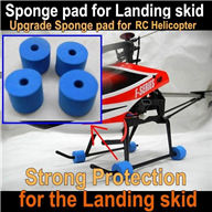 Sponge pad for landing skid,Strong protection for the helicopter