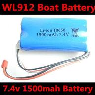 7.4v 1500mAH Battery wholesale (WLtoys WL912 Boat Upgrade Battery-7.4v 1500mAH battery 15c with Red JST plug)