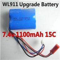 7.4v 1100mAH Battery wholesale(WLtoys WL911 Boat Upgrade Battery-7.4v 1100mAH battery 15c with Red JST plug)