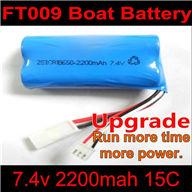 Upgrade FT009 Boat Battery-7.4v 2200mah Battery 15c Li-Ion Battery