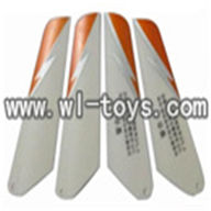 double horse DH 9098 helicopter parts-04 main rotor blade(orange)