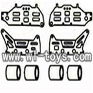 double horse 9098 helicopter parts-10 Decoration Aluminum Plates