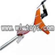 double horse DH 9098 RC helicopter parts-15 Tail set (Orange)