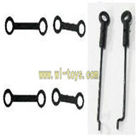 FX059 helicopter-parts-06 Long Connect buckle(2pcs) & Short connect buckle(2pcs) & Steering gear lever(2PCS)