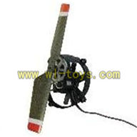 FeiLun FX059 rc helicopter parts-23 Chopper Tail unit (Include Tail motor& Tail blade & Tail cover with gear)