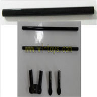 FeiLun FX059 rc helicopter-parts-32 Long tail pipe & Support pipe with fixtures