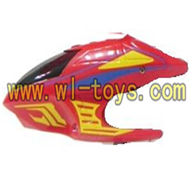 Koome K008 rc helicopter parts-03 Head cover (Red)