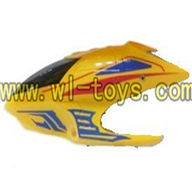 Koome toys model K008 rc helicopter parts-05 Head cover (Yellow)