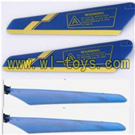 Koome K008 rc helicopter parts-08 Main rotor blades(4pcs-2A+2B)-Blue