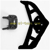 Koome K008 rc Helicopter parts-33 Horizontal wing with fixture-Black