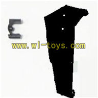 Koome K008 rc Helicopter parts-34 Verticall wing with fixture-Black