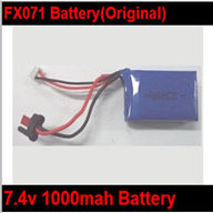 Original FeiLun FX071 FX071C RC Helicopter Battery-7.4v 1500mAh Battery with Red JST Plug