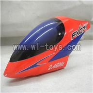 Feilun FX071 FX071C RC Helicopter parts, FX071-parts-01 Head cover (Red)