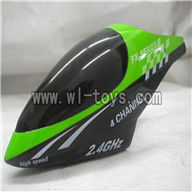 Feilun FX071 FX071C RC Helicopter parts, FX071-parts-02 Head cover(Green)