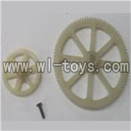 Feilun FX071 FX071C RC Helicopter parts, FX071-parts-17 Main gear & Tail gear