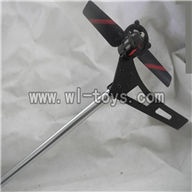 Feilun FX071 FX071C RC Helicopter parts, FX071-parts-37 Whole tail unit-(Long tail pipe & Tail blade & Tail cover with tail motor)