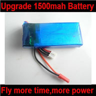 BoRong BR6802 Quadcopter Upgrade Battery-7.4v 1500mah 25C Battery with Red plug