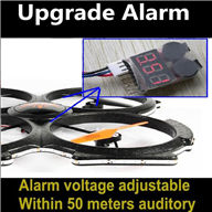 Low voltage alarm for rc Quadrocopter & rc Helicopter