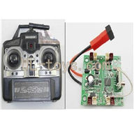 BoRong BR-6802 Quadcopter parts BR6802-parts-06 Transmitter & Circuit board (Factory has no produce this produce ,Now facotry said they can use upgrade version Circuit board and Transmitter instead .So you need to buy this both Transmitter and Circuit board to control your quadcopter)