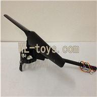 XinXun X30 X30V Quadcopter parts, Xinxun-X30-parts-17 Whole leg unit 1 (Black)