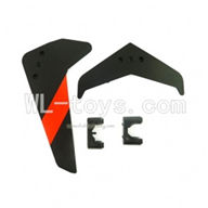 UDI U12 U12A RC helicopter parts-33 Tail Decoration