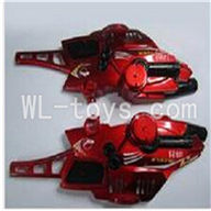 UDI U821 RC helicopter parts-01 Head cover(Red)