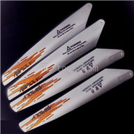 UDI U822 rc helicopter parts-03 Main blades (4pcs-2A+2B-Red)
