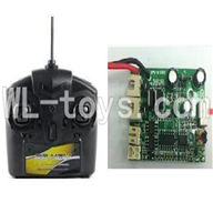 UDI U17 rc helicopter parts-08 Transmitter & Circuit board