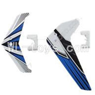 UDI U23 rc helicopter parts-27 Horizontal and verticall wing with fixtures-Blue