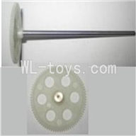 UDI U25 rc helicopter parts-16 Upper main gear with hollow pipe & Lower main gear with copper sleeve