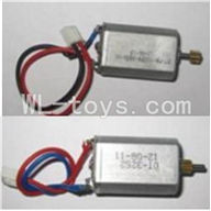 UDI U25 rc helicopter parts-21 Main motor with long shaft and gear & Main motor with short shaft and gear