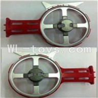 UDI U25 rc helicopter parts-31 Left and right side frame(Not include the side motor)-Red